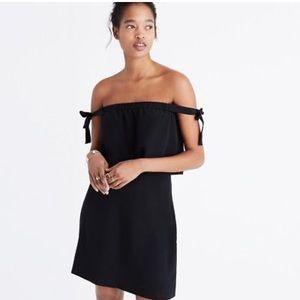 Madewell Silk Off the Shoulder Dress NWT